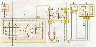 Электрическая схема генератора ваз 21043