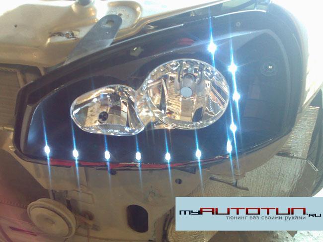 Подпаенные светодиоды к габаритам
