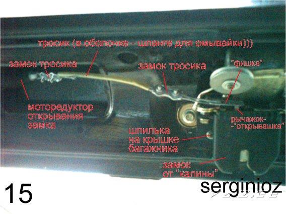 электрическая схема крышки