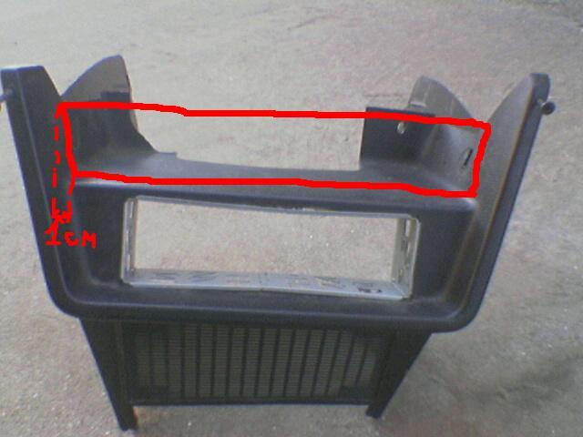 чертеж консоли ваз 2107