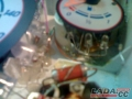 Переделка приборов Ваз 2107Далее мы спаяли, так сказать, светодиодные мосты. Т.е. к проводкам подпаяли по два, по три диода параллельно (не последовательно!). Расположили диоды где нужно. С помощью термоклея закрепили их на приборке. Проводки припаяли на места где были раньше лампочки.